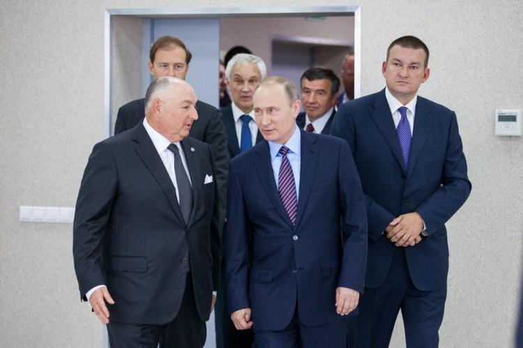 Вячеслав Моше Кантор и Владимир Владимирович Путин
